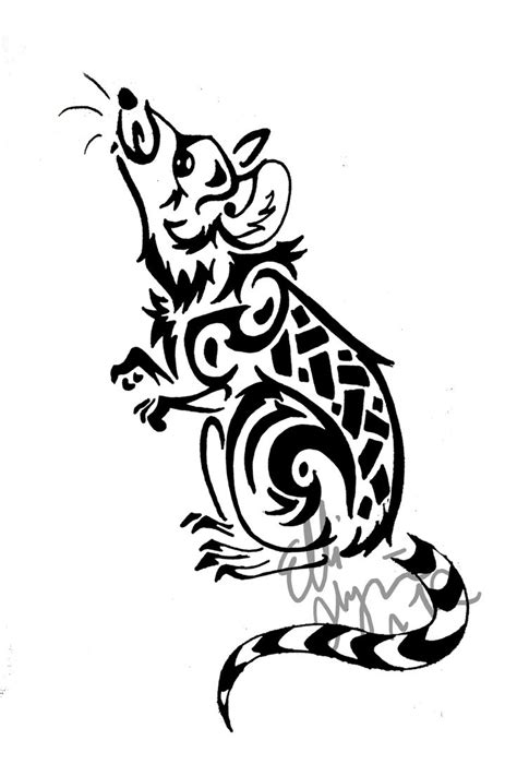 rat tattoo designs 22 best tribal mouse images on disney