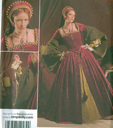 patterns sewing historical simplicity historical costume sewing pattern sla larp ebay