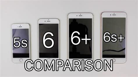 iphone 6s plus vs 6 plus vs 6 vs 5s comparison