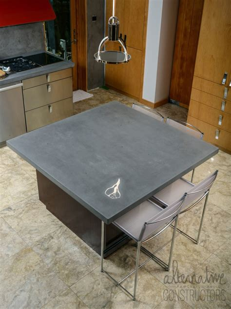 precast solid concrete countertop alternative constructors