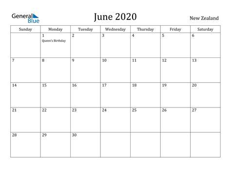 june  calendar  zealand