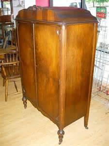 10388 antique cedar lined rolling wardrobe lot 10388