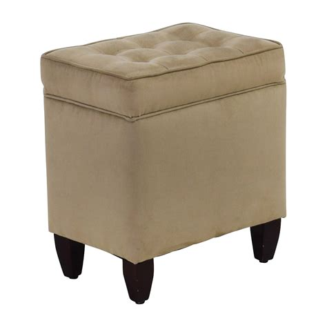 ottoman storage chair 80 off beige tufted ottoman with storage chairs