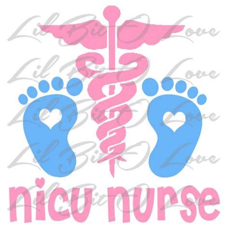 Mirror Decals Home Decor by Nicu Nurse Vinyl Decal Sticker Neonatal Icu Nursing Baby