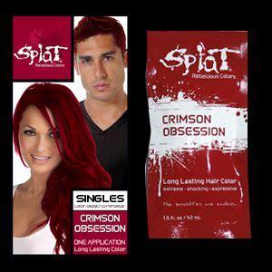 splot crinson obsession splat singles crimson obsession splat hair color