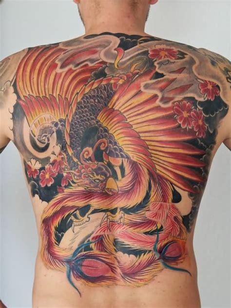 phoenix tattoo model latest colorful phoenix tattoo on man full back