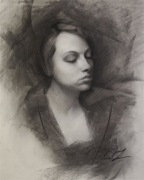Drawing With Charcoal by Charcoal Portrait Drawing Tutorial
