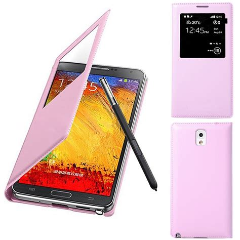 Note 3 N9000 Flip Cover S View etui coque housse flip cover s view cuir pour samsung