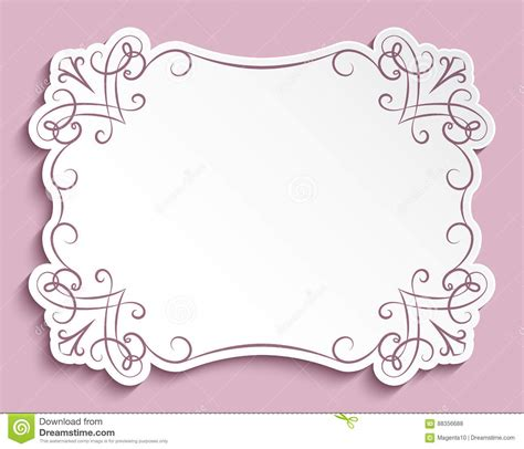 paper wishes card templates rectangle paper frame greeting card template
