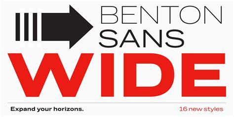 benton sans wide news font bureau