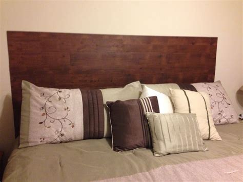 Peel And Stick Headboards Board Made Out Of Peel And Stick Quot Wood Quot Tile So Easy And Looks Great Diy Headboard