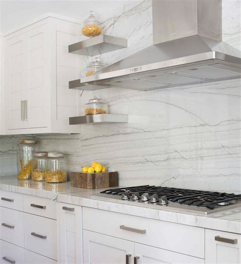White Quartzite Countertops by White Quartzite Countertops Transitional Kitchen
