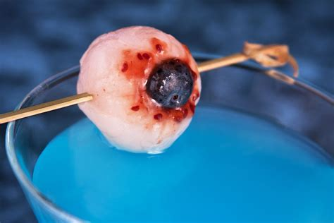 martini eyeball the creepy lychee eyeball garnish for cocktails