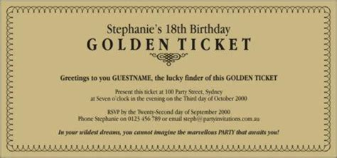 golden ticket invitation template template of ticket new calendar template site