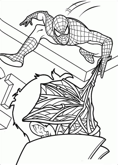 coloring page spiderman coloring pages 16
