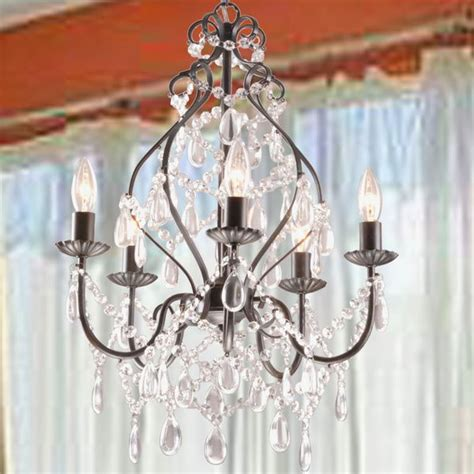 Chandelier Deals Bethany 5 Light Iron And Candle Chandelier By The
