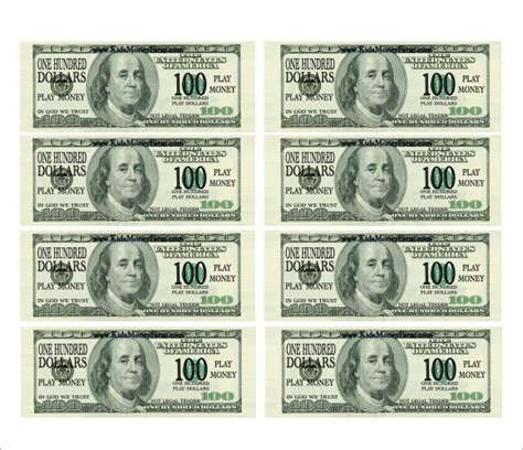 printable mini fake money best photos of play money template pdf printable play