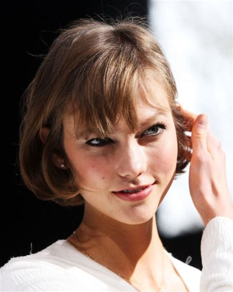 short cut with chinese bang karlie kloss short cut with bangs for summer easy short