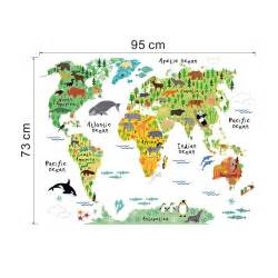 colorful world map wall sticker decal vinyl art world map wall sticker by leonora hammond