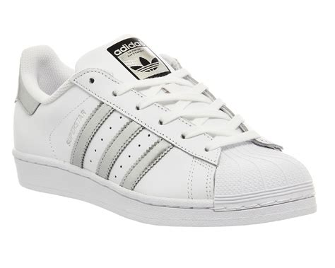 Adidas Silver adidas superstar 1 white silver met black unisex sports