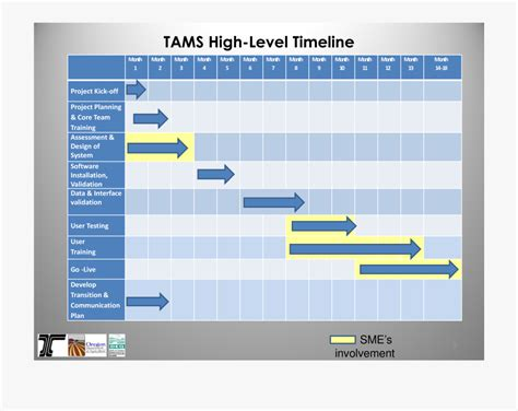 business timeline template project management high level