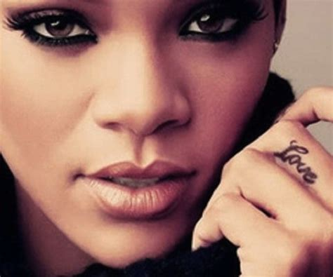 tattoo finger shhh rihanna tattoos and meanings