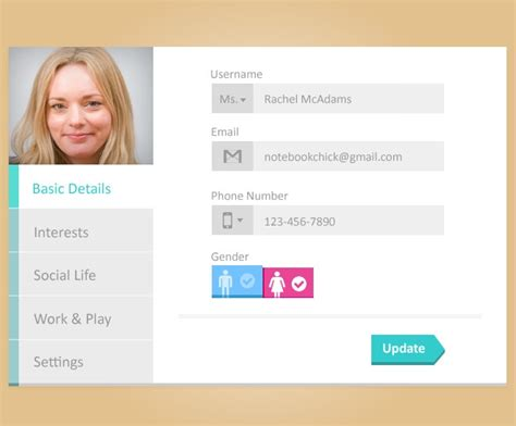 25 App Profile Page Designs Psd Vector Eps Jpg Download Freecreatives Simple User Profile Html Template