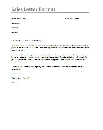 10 Sales Letter Sles Free Word Templates Best Sales Template