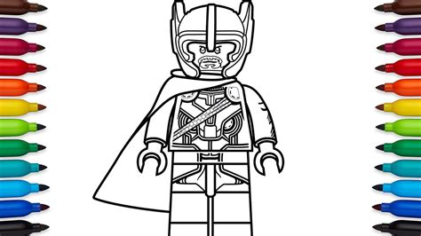 lego loki coloring pages how to draw lego thor from marvel s thor ragnarok