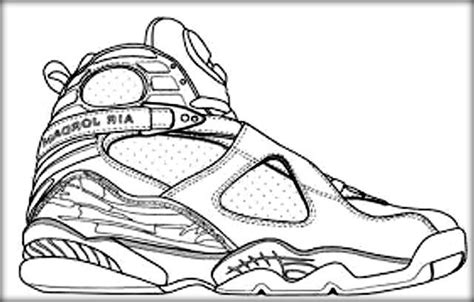coloring pictures of basketball shoes jordan coloring book online
