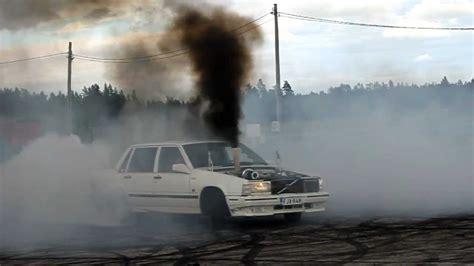 volvo  turbo diesel om burnout youtube