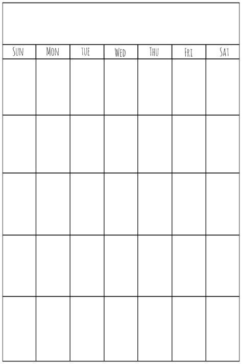 printable calendar vertical list printable vertical calendar printable calendar template 2018