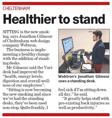 Why Use A Standing Desk At Work Webtron Health Benefits Standing Desk