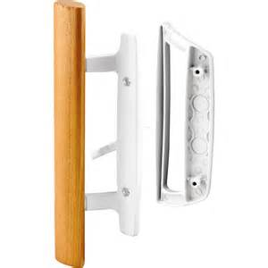 Sliding Glass Door Handle Replacement Shop Prime Line White Patio Door Handle Set With Wooden