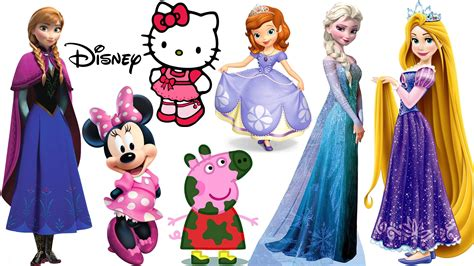 Hello Sanrio Original Versi Princess Cinderella magnetic fashion wooden dolls disney princess elsa rapunzel peppa pig hello minnie