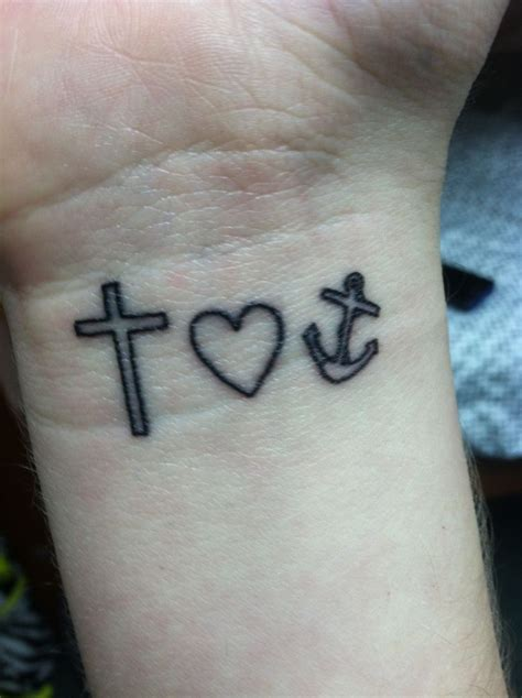 heart cross and anchor tattoo cross anchor hebrews 6 19 tattoos