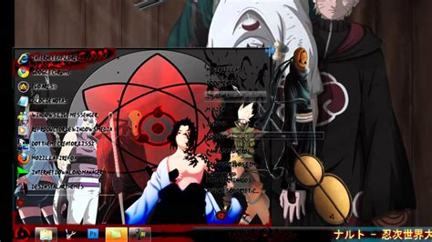 tema naruto themes tema para windows 7 naruto shippuden war by mrvergillas15