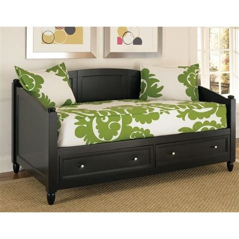 bedford storage wood daybed in black 5531 85