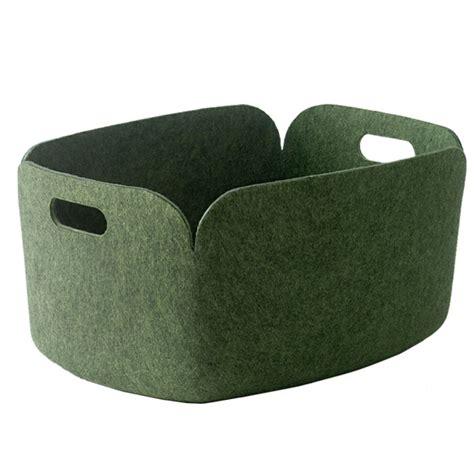 Storage Basket Green muuto restore storage basket green design shop