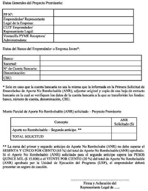 formato solicitud de anticipo infoleg