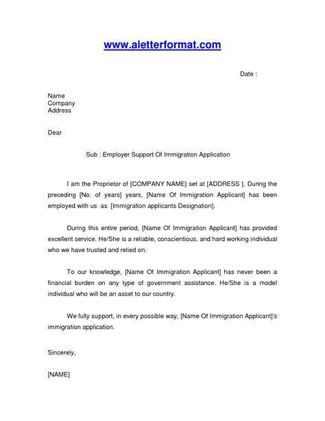letter of reference for a friend immigration letter
