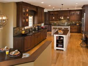 Dark Oak Kitchen Cabinets Dark Oak Cabinets Kitchen Traditional With Apothecary