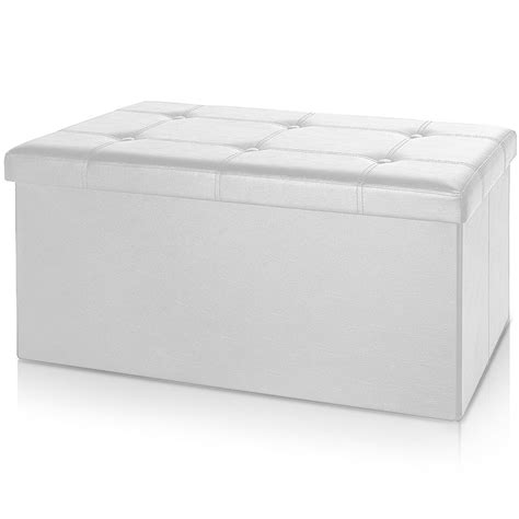 X Stool Ottoman Stool Bench 80 X 38 X 40 Cm Ottoman Storage Box Bench Stool Cube Seat White Ebay