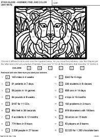 unit rate coloring page ratios and proportions worksheets and help pages by math crush
