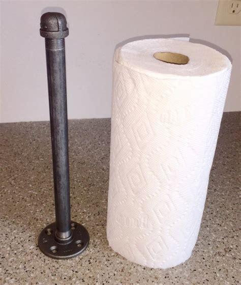 diy paper towel dispenser industrial black pipe paper towel holder quot diy quot kit free