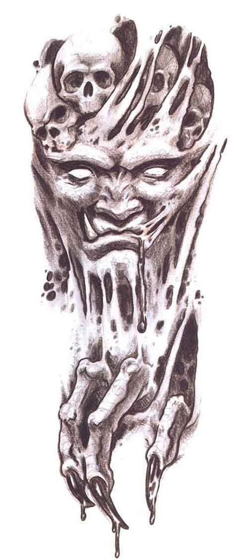 devil head tattoo designs scary drawings new 42 design