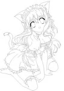 Coloring Anime With Cat Ears Drawings Coloring Pages