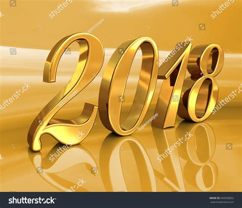new year 2018 celebration duration gold 2018 celebration number golden 3d 스톡 일러스트레이션