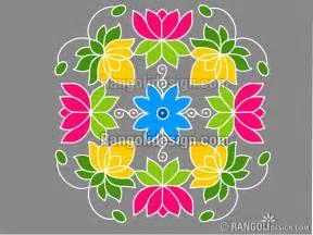 Lotus Rangoli Design Lotus Rangoli Design 4 Lotus Dotted Rangoli Design