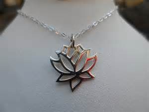 Sterling Silver Lotus Flower Pendant Sterling Silver Lotus Flower Necklace By Weddingbellsdesigns